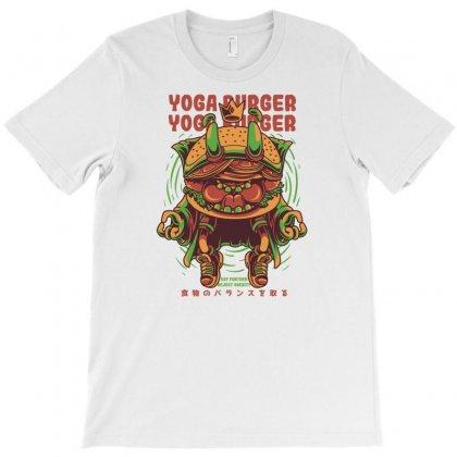 Yoga Burger T-shirt Designed By Daudart