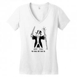 you shall not pass go Women's V-Neck T-Shirt | Artistshot