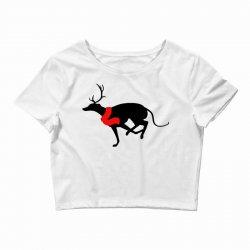 greyhound antlers Crop Top | Artistshot