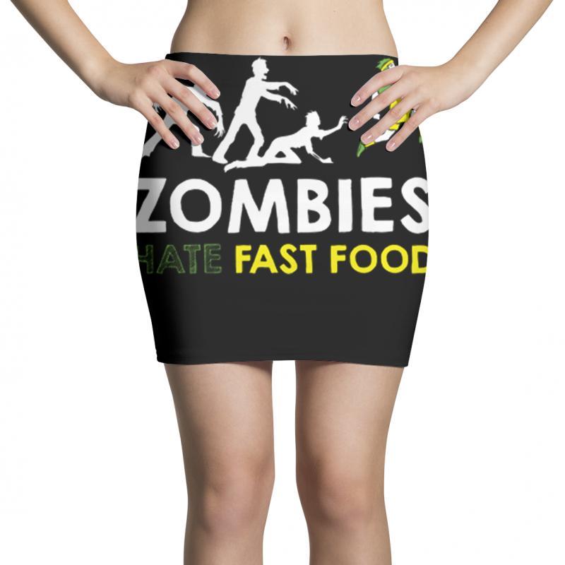 Zombies Hate Fast Food Mini Skirts | Artistshot