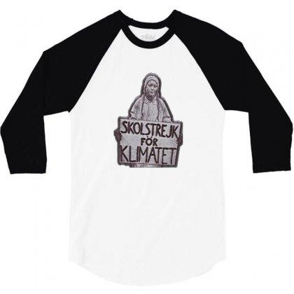 Skolstrejk För Klimatet 3/4 Sleeve Shirt Designed By Verolvori