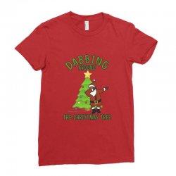 dabbing santa Ladies Fitted T-Shirt | Artistshot