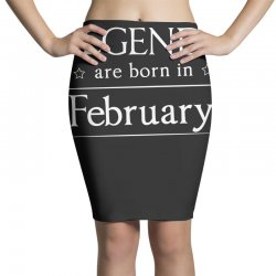legends are born in february birthday gift  t shirt Pencil Skirts   Artistshot