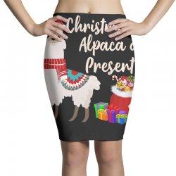 christmas alpaca a present Pencil Skirts | Artistshot