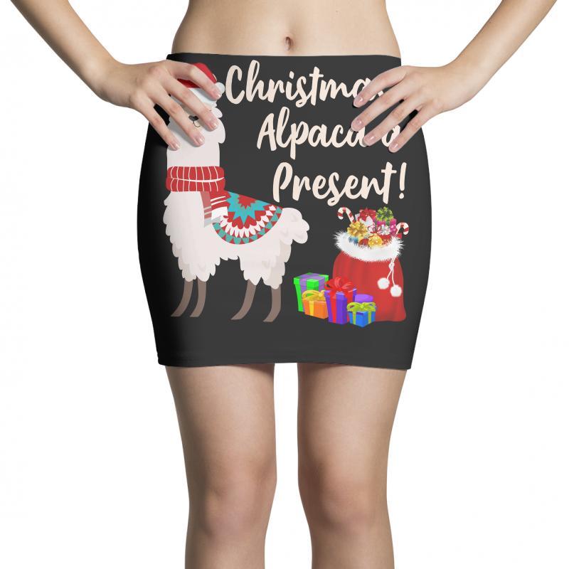 Christmas Alpaca A Present Mini Skirts | Artistshot