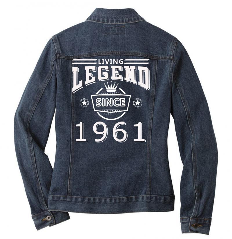 Living Legend Since 1961 Ladies Denim Jacket | Artistshot
