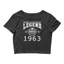 living legend since 1963 Crop Top   Artistshot