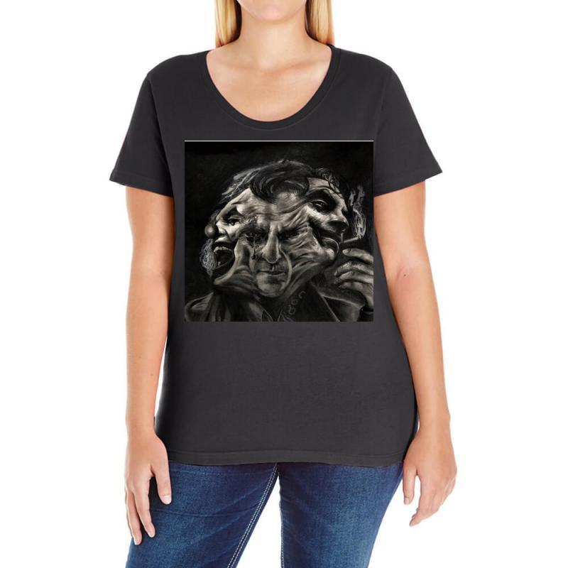 Joker(the Creative Combination Of Heath And Sorrow) Ladies Curvy T-shirt   Artistshot