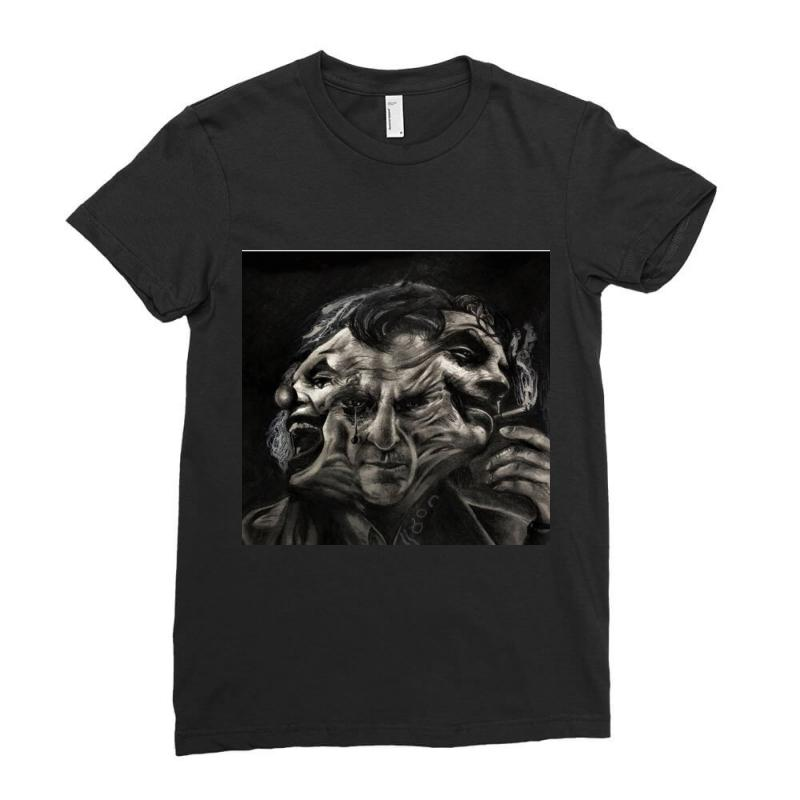 Joker(the Creative Combination Of Heath And Sorrow) Ladies Fitted T-shirt   Artistshot