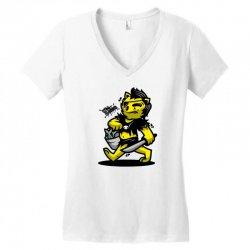zyapa the cat 4 b Women's V-Neck T-Shirt   Artistshot