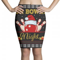 Ugly Christmas Gift for Bowling Player Bowly Lover Oh Bowly Night Ugly Pencil Skirts | Artistshot
