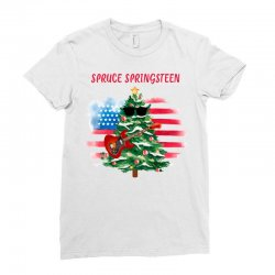 Spruce Springsteen Ladies Fitted T-Shirt | Artistshot
