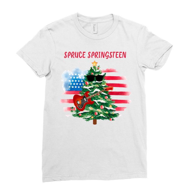 Spruce Springsteen Ladies Fitted T-shirt | Artistshot