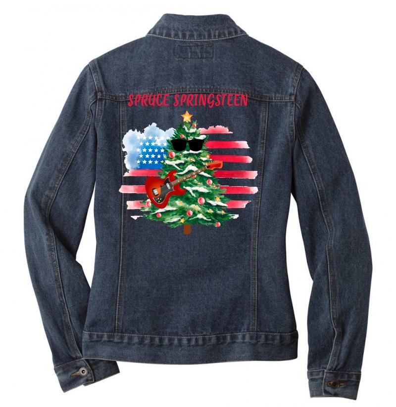 Spruce Springsteen Ladies Denim Jacket   Artistshot