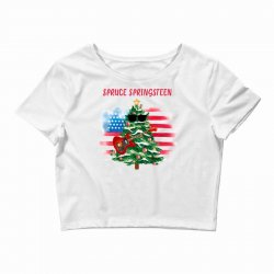 Spruce Springsteen Crop Top | Artistshot