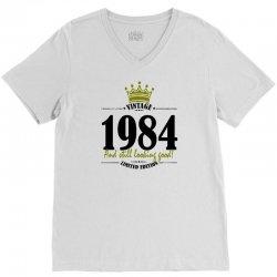 vintage 1984 and still looking good V-Neck Tee | Artistshot