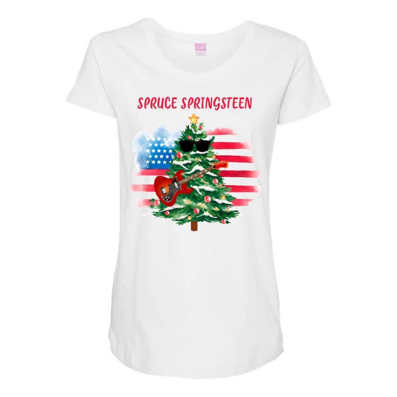 Spruce Springsteen Maternity Scoop Neck T-shirt   Artistshot