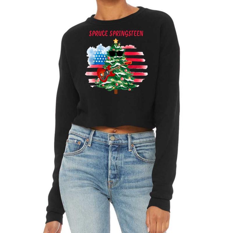 Spruce Springsteen Cropped Sweater | Artistshot