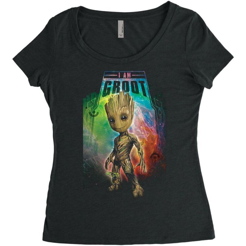 I Am Groot Baby Groot Gurdian Of The Galaxy Women's Triblend Scoop T-shirt | Artistshot