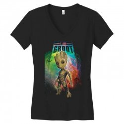 i am groot baby groot gurdian of the galaxy Women's V-Neck T-Shirt | Artistshot