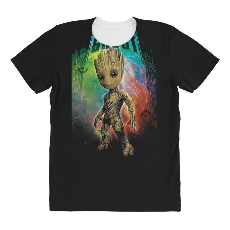I Am Groot Baby Groot Gurdian Of The Galaxy All Over Women's T-shirt | Artistshot