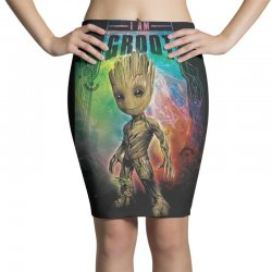 i am groot baby groot gurdian of the galaxy Pencil Skirts | Artistshot