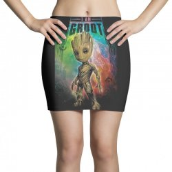 i am groot baby groot gurdian of the galaxy Mini Skirts | Artistshot