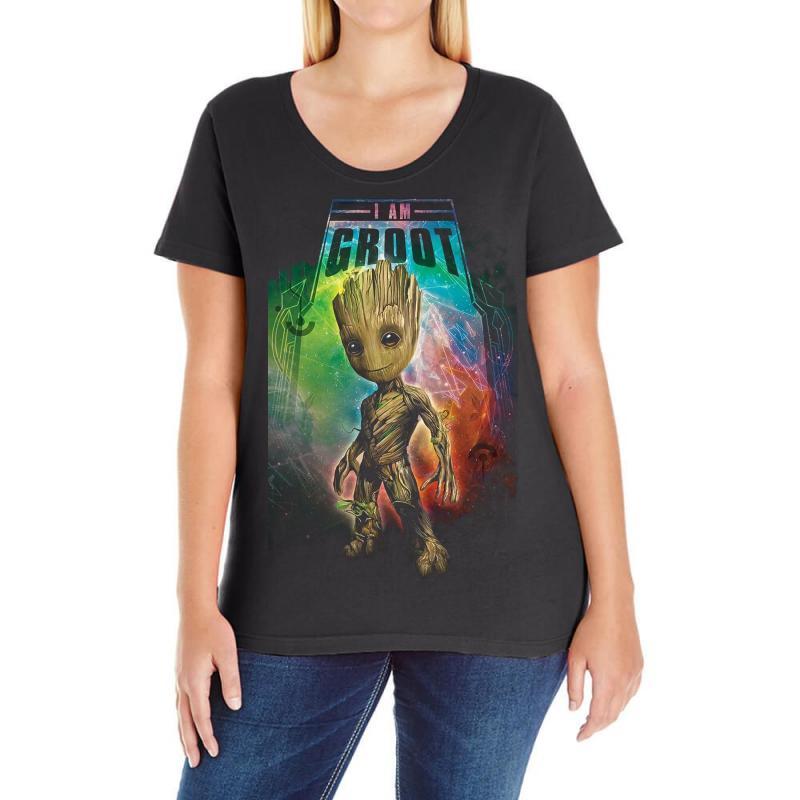 I Am Groot Baby Groot Gurdian Of The Galaxy Ladies Curvy T-shirt | Artistshot
