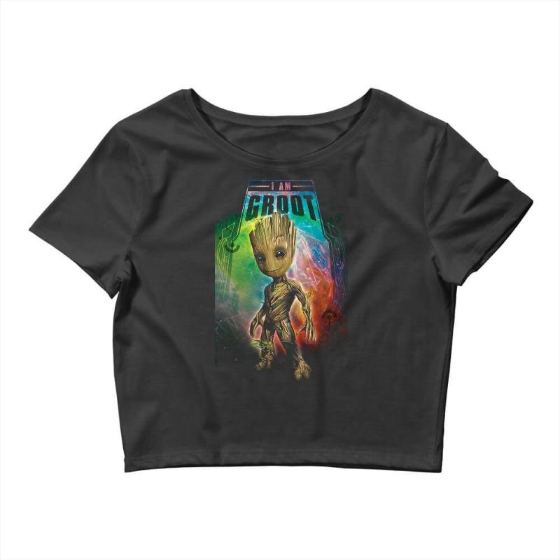 I Am Groot Baby Groot Gurdian Of The Galaxy Crop Top | Artistshot