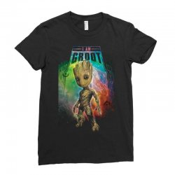 i am groot baby groot gurdian of the galaxy Ladies Fitted T-Shirt | Artistshot