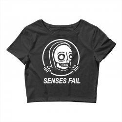 senses fail  graveyard Crop Top   Artistshot