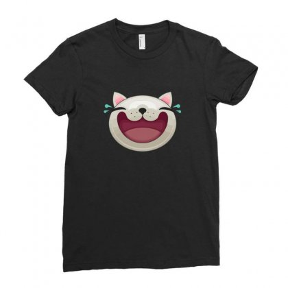 Expression   Happy Cat Ladies Fitted T-shirt Designed By B4en1