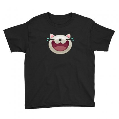 Expression   Happy Cat Youth Tee Designed By B4en1