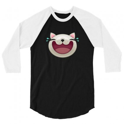 Expression   Happy Cat 3/4 Sleeve Shirt Designed By B4en1