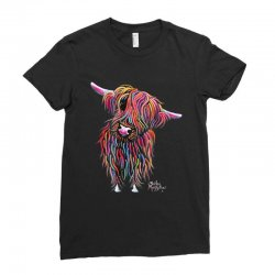 highland cow print animal print bolly Ladies Fitted T-Shirt | Artistshot