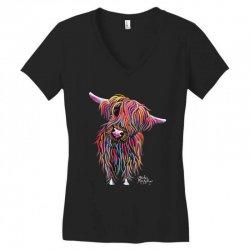 highland cow print animal print bolly Women's V-Neck T-Shirt | Artistshot