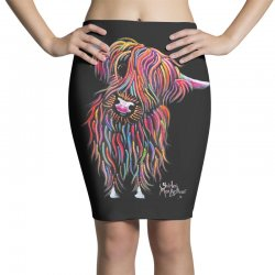 highland cow print animal print bolly Pencil Skirts | Artistshot