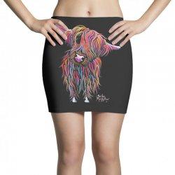 highland cow print animal print bolly Mini Skirts | Artistshot
