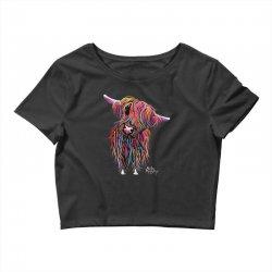 highland cow print animal print bolly Crop Top | Artistshot