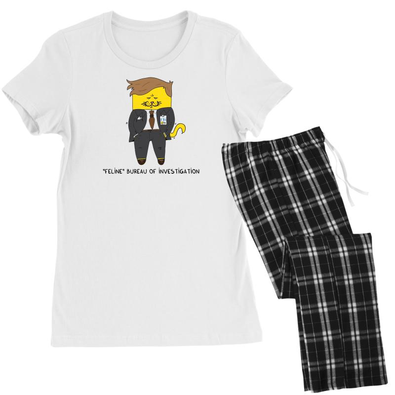 Feline Bureau Of Investigation Women's Pajamas Set | Artistshot