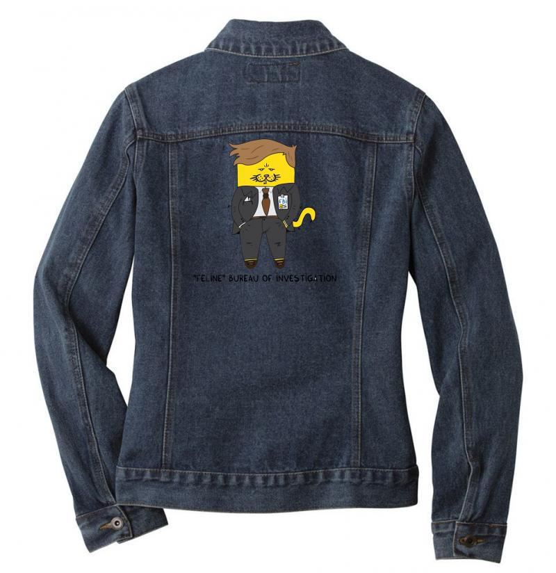 Feline Bureau Of Investigation Ladies Denim Jacket | Artistshot