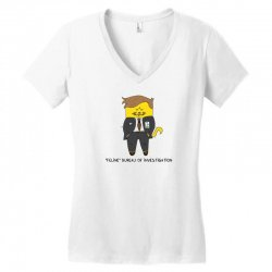 feline bureau of investigation Women's V-Neck T-Shirt | Artistshot