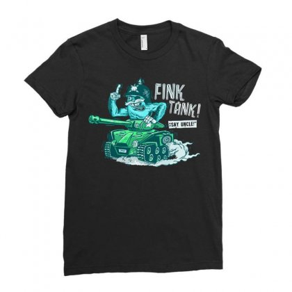 Fink Tank! Ladies Fitted T-shirt Designed By B4en1