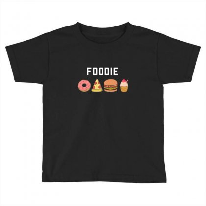 Foodie Pizza And Burger Toddler T-shirt Designed By B4en1