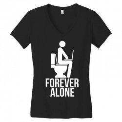 forever alone Women's V-Neck T-Shirt   Artistshot