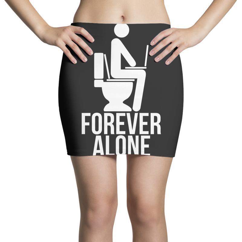 Forever Alone Mini Skirts   Artistshot