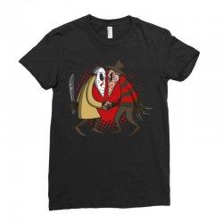 freddy vs jason Ladies Fitted T-Shirt | Artistshot