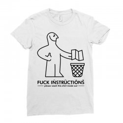 fuck instructions Ladies Fitted T-Shirt | Artistshot
