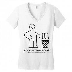 fuck instructions Women's V-Neck T-Shirt | Artistshot