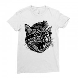 funky cat Ladies Fitted T-Shirt | Artistshot